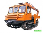 Бурильно-крановая машина BUER на шасси трелевочника МСН-10 (ТТ-4М) Омск