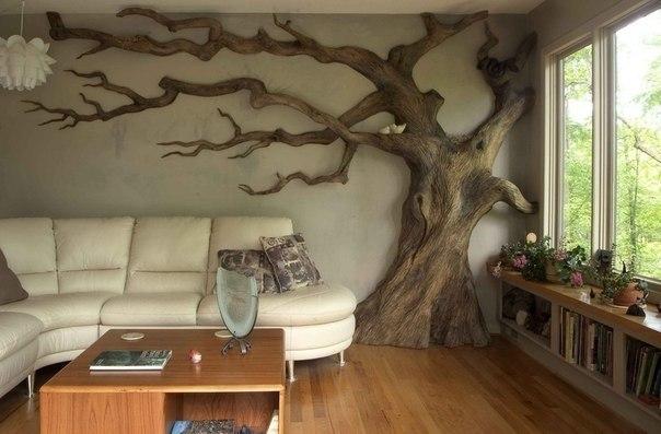 Древесина в интерьере