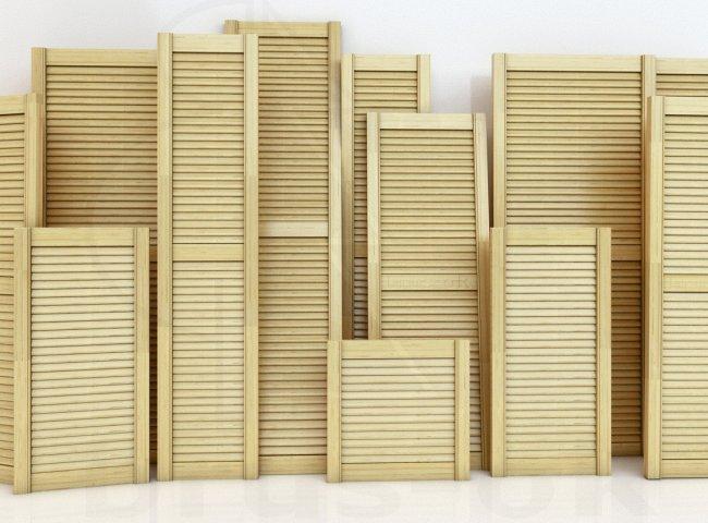 Двери жалюзийные деревянные