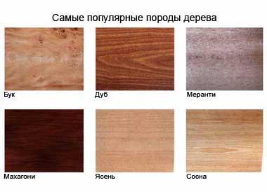 виды древесины для мебели