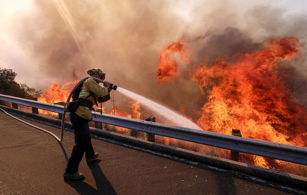 Последние данные о лесных пожарах в Калифорнии